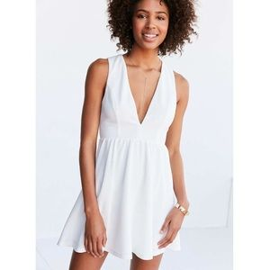 Lucca Couture plunging textured dress